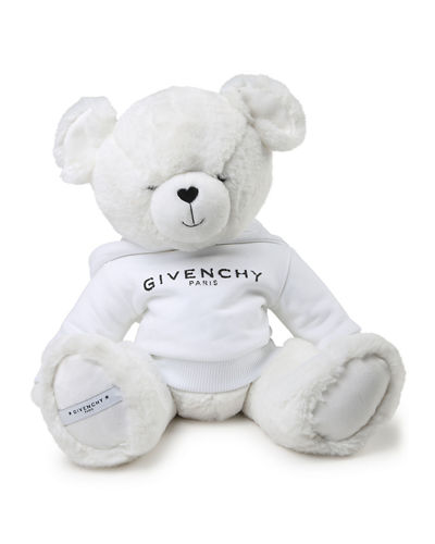 Kids' Plush Teddy Bear Stuffed Animal w/ Logo Hoodie