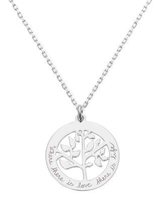Personalized Tree Of Life Necklace in Silver