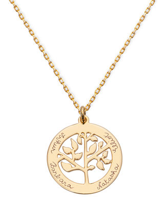 Personalized Tree Of Life Necklace in Gold