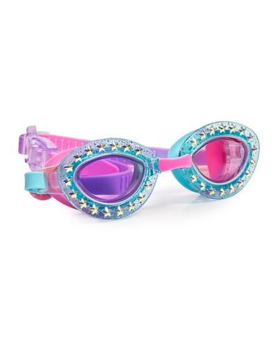 Kids' Glittered Star Swim Goggles