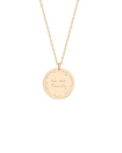 Personalized We Are Family Necklace