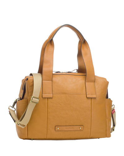 Kym Leather Handbag with Diaper Changing Mat