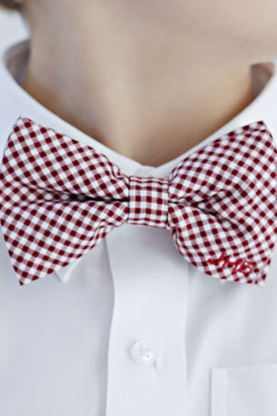 Brown Bowen and Company Boys' Clip-On Bow Tie - Monogram Option